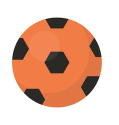 ball football icon flat cartoon style isolated vector image