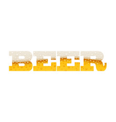 Beer with bubble foam brewery vector