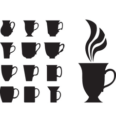 Big tea cups vector