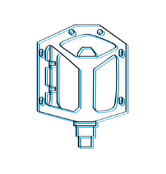 bike pedal outline vector image