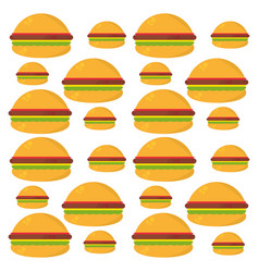 Burger food unhealthy seamless pattern vector