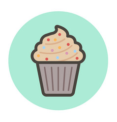 Cake-basket with cream vector