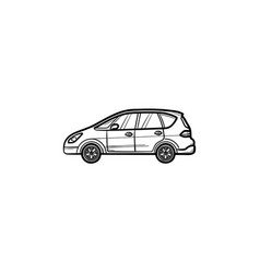 car side view hand drawn outline doodle icon vector image