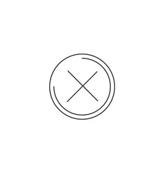 Close cross line icon eps-10 vector