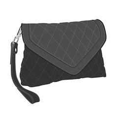 Clutch bag vector image