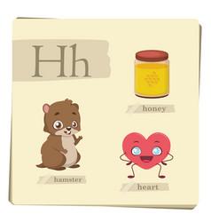 colorful alphabet for kids - letter h vector image
