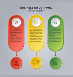 colorful infographic template vector image