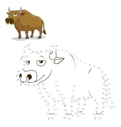 Connect the dots game bull vector