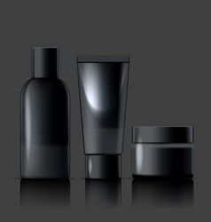 cosmetic product package for cream lotion shampoo vector image