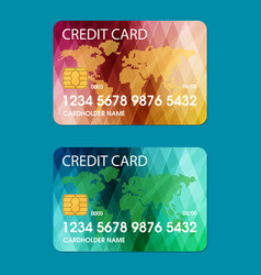 Credit card flat vector