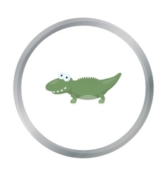 Crocodile cartoon icon for web and vector