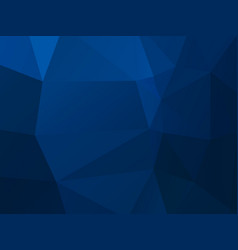 dark blue mosaic triangle background vector image