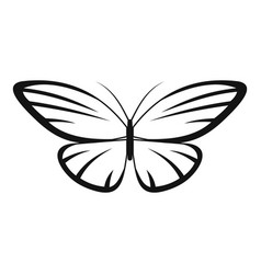 Decorative moth icon simple style vector