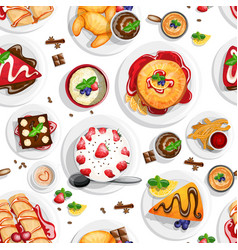 Dessert top view vector