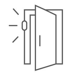 Door sensor thin line icon access and security vector