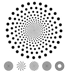 dots pattern elements made of circles design vector image