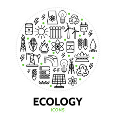 ecology round concept vector image