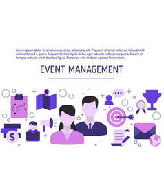 Event management background event management vector