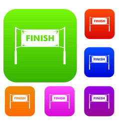 finish line gates set collection vector image