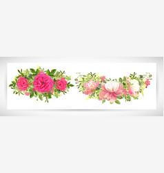 Floral template design bouquet vector