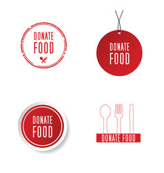 Food donation symbol vector