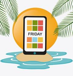 Friday Celebration design vector image