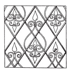German renaissance pattern is a net design filled vector