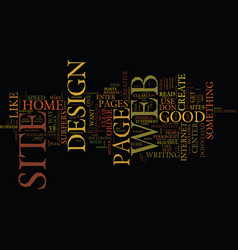 good web site design text background word cloud vector image