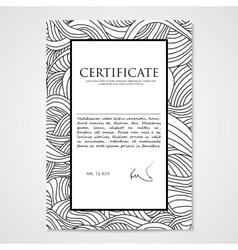 Graphic design template document with hand-drawn vector