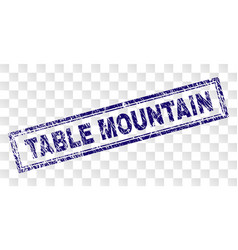 Grunge table mountain rectangle stamp vector