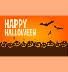 happy halloween banners flat designed elements vector image
