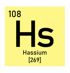 hassium chemical symbol vector image