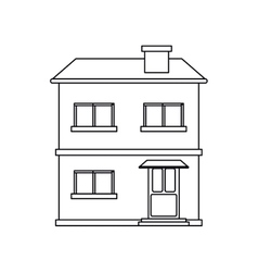 house facade residential estructure outline vector image