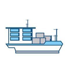 isolated big merchandise ship vector image