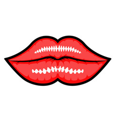 isolated lips icon vector image