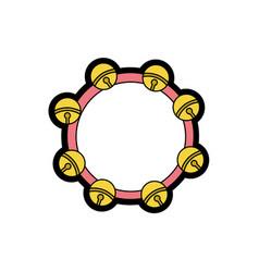 isolated tambourine design vector image