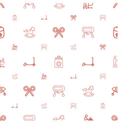 Kids icons pattern seamless white background vector