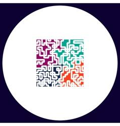 Labyrinth computer symbol vector image
