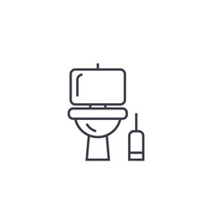 Lavatory line icon sign on vector