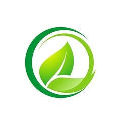Leaf organic bio logo vector