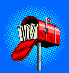 Letter box comic book style vector