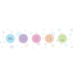 Library icons vector