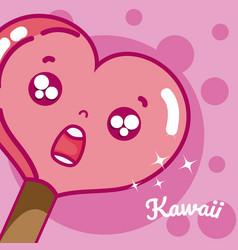 lollipop cute kawaii vector image