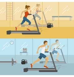 Male And Female Gyms Design vector