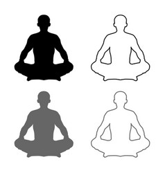 man in pose lotus yoga pose meditation position vector image