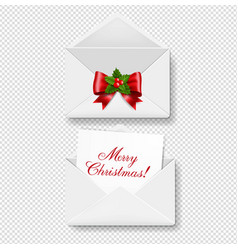 merry christmas envelope set isolated transparent vector image