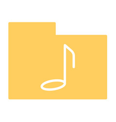 music folder silhouette icon pictogram vector image