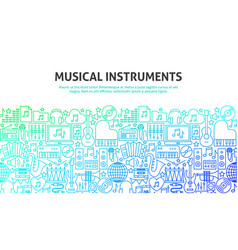 Musical instruments concept vector