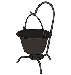Old metal kettle vector