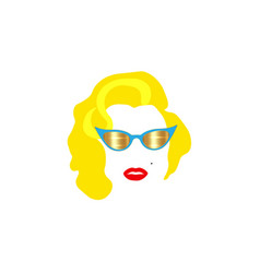 portrait fashion woman minimalist marilyn monroe vector image